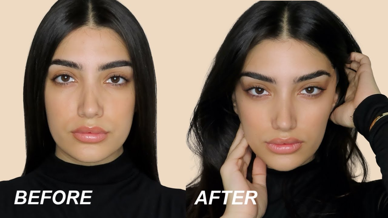 snatched face with makeup